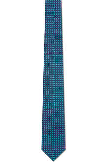 SIMON CARTER Mini circles silk tie