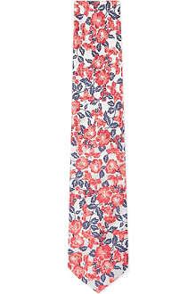 DUCHAMP Carnational Floral silk tie