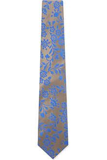 DUCHAMP Chamomile floral silk tie