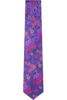 DUCHAMP Garden Floral silk tie