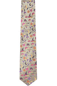 DUCHAMP Swallow Garden silk tie