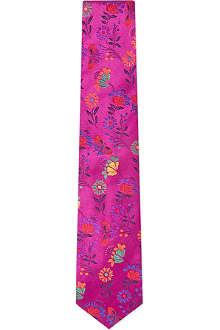 DUCHAMP Mandelieu floral silk tie