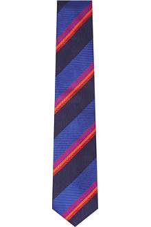 DUCHAMP Palette Stripe silk tie