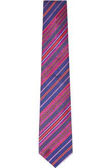 DUCHAMP Pixel Stripe silk tie