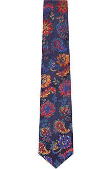 DUCHAMP Paisley Floral silk tie