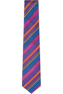 DUCHAMP Texted Stripe silk scarf