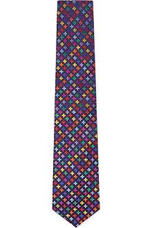 DUCHAMP Plus Geo silk tie