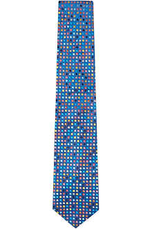 DUCHAMP Multi Dot silk tie