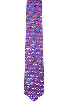 DUCHAMP Geo Brick silk tie