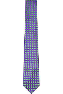 DUCHAMP Duo Dots silk tie