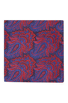DUCHAMP Ornate paisley pocket square