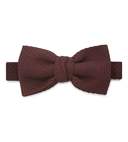 LANVIN Solid grenadine silk bowtie (Red