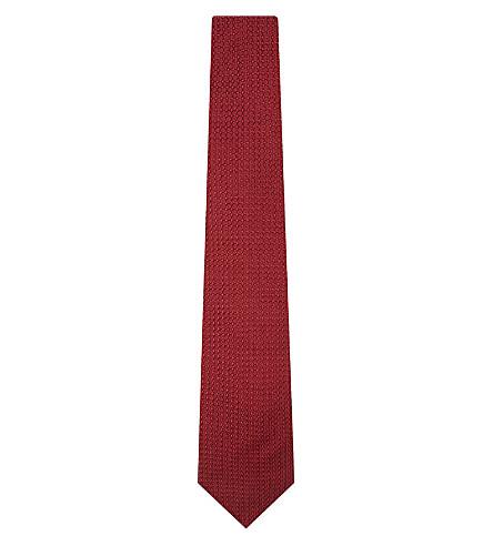 LANVIN Knitted silk tie (Red