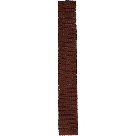 LANVIN Knitted tie (Brown