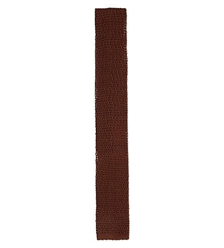LANVIN Knitted tie (Brown