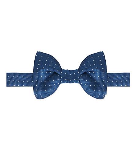 LANVIN Polka-dot silk tie (Blue