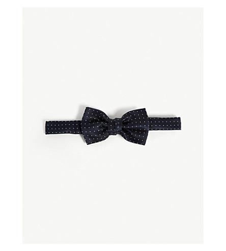 LANVIN Polka-dot silk tie (Navy