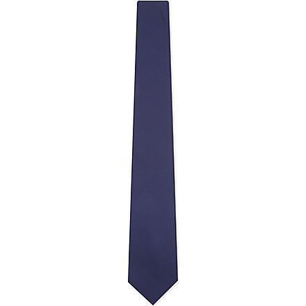 LANVIN Oversized silk bow tie (Navy