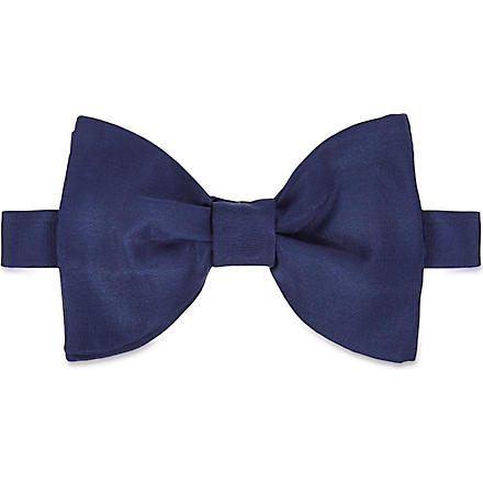 LANVIN Two-layer silk bow tie (Blue