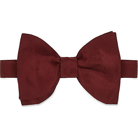 LANVIN Two-layer silk bow tie (Burgundy