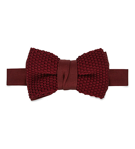 LANVIN Knitted bow tie (Red