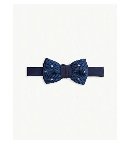 LANVIN Polka-dot silk bowtie (Blue