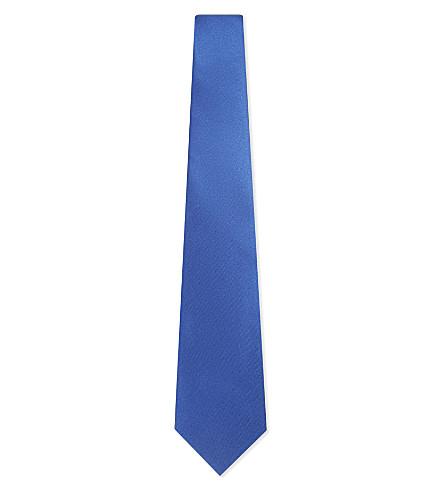 LANVIN Satin tie (Blue