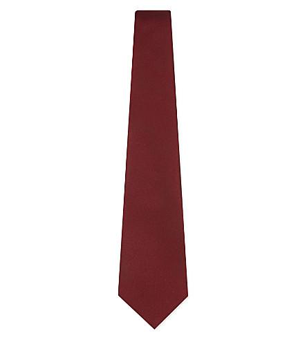 LANVIN Woven silk-satin tie (Red