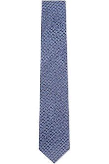 YVES SAINT LAURENT Tri-dimension silk tie