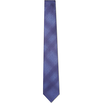 LANVIN Graduated silk tie (Navy