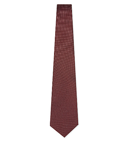 LANVIN Dot pattern silk tie (Red