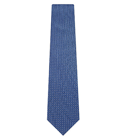 LANVIN Dynamic triangle tie (Blue
