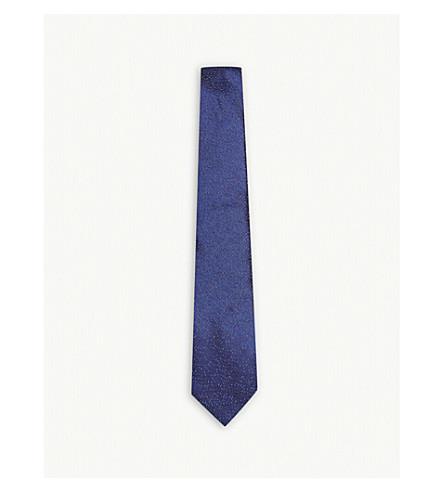 LANVIN Micro-speck silk tie (Blue