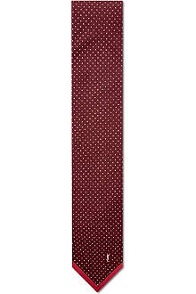 YVES SAINT LAURENT Contraste edge silk tie