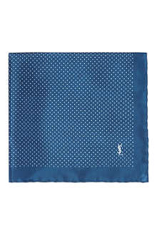 YVES SAINT LAURENT Polka dot pocket square