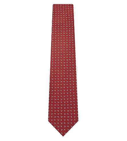 LANVIN Pin wheel silk tie (Red