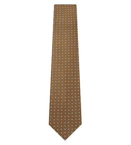 LANVIN Pinwheel silk tie (Gold
