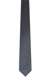 LANVIN Graded camo silk tie