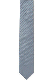 LANVIN Silk seersucker stripes tie