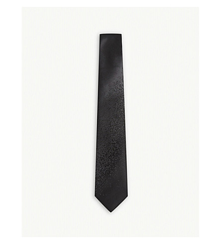LANVIN Degrading fade silk tie (Black