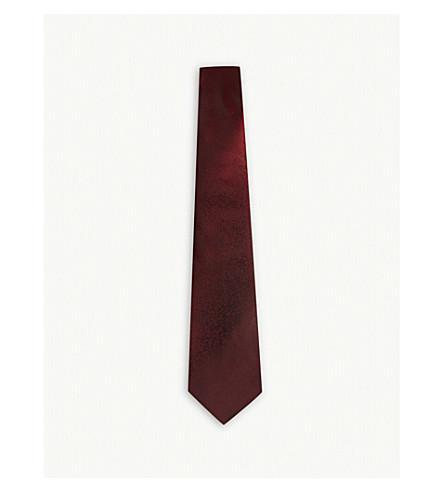 LANVIN Degrading fade silk tie (Red