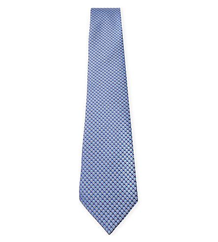 LANVIN 瓢虫丝领带 (蓝色