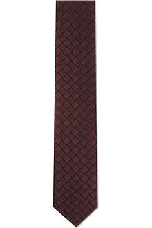 LANVIN Alternate patterned squares tie