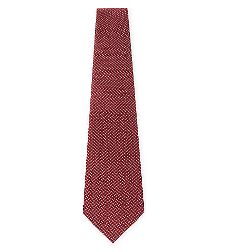 LANVIN 微点丝领带 (红