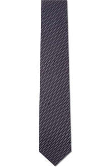 LANVIN Textured diamond-pattern tie