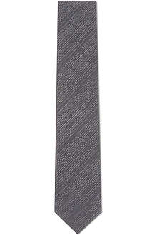 LANVIN Dashed grain silk tie