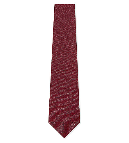 LANVIN Dashed grain silk tie (Red