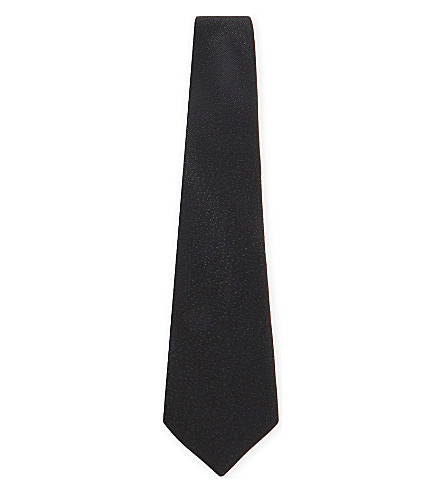 LANVIN Sparkle silk-blend evening tie (Black