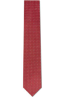 YVES SAINT LAURENT Caviar dot silk tie