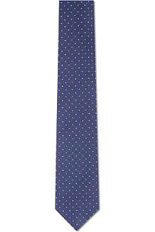 YVES SAINT LAURENT Checked silk tie